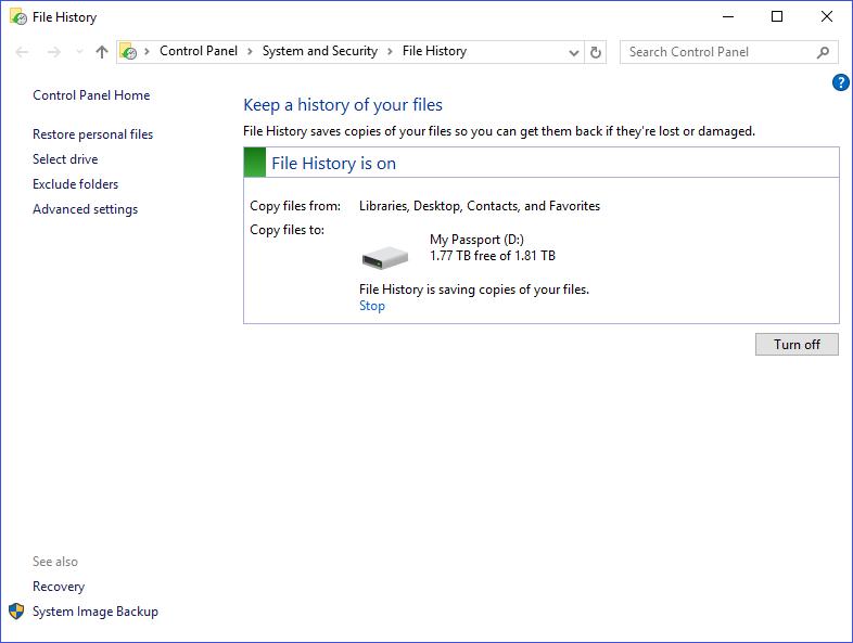 Recover deletd data file history