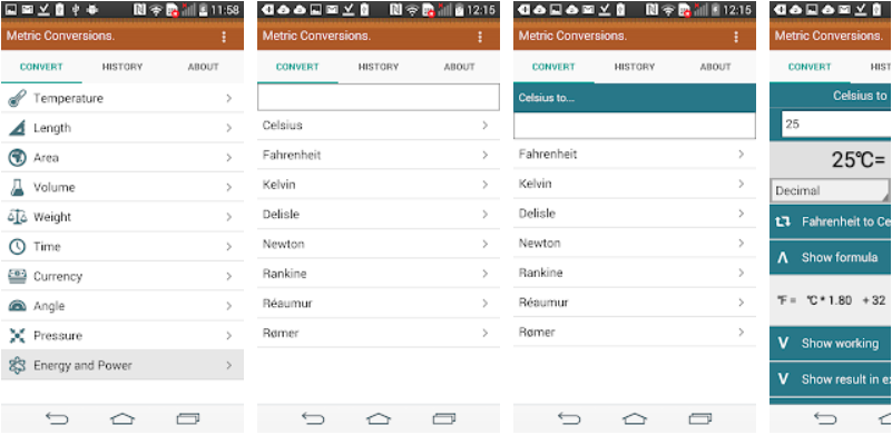 Metric Conversions App